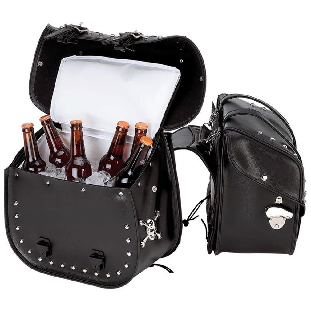 Beer Bags 4pc Studded Motorcycle Saddlebag Cooler Set by Beer Bags (Image #2)