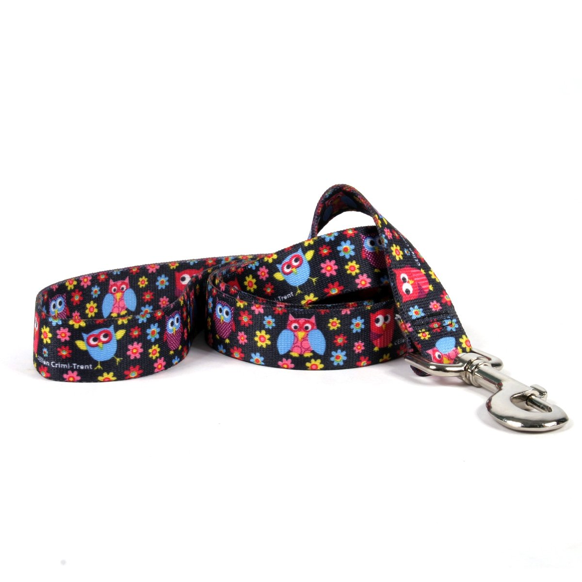 Yellow Dog Design Bright Owls Dog Leash 3/4'' Wide And 5' (60'') Long, Small/Medium