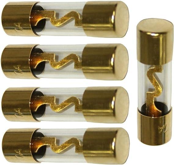 Aerzetix C1904 5 X Sicherungen Agu Glassicherung Für Kfz Auto Verstärker 60a Auto