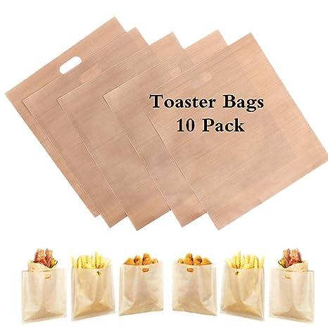 10 paquetes de bolsas de pan tostado para reutilizar, ideal ...
