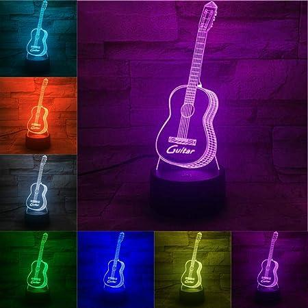 QingMuMu Instrumento Musical Guitarra Interruptor de lámpara ...