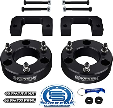 """2/"""" Silver Front Aluminum Lift Kit 2007-2013 Chevrolet Avalanche 2wd 4wd 6-Lug"""