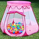 HONGSA Kids Tents, Cartoon Patterns Children Shooting Pools Folding Toys Indoor Outdoor Kids Pit Balls Pool (Light red)