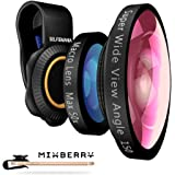 Mixberry SELFIEMANIA 2 in 1 Camera Lens Kit - Includes Super Wide 150° Angle Lens + Macro 50x Zoom Lens - For Smartphones, Tablets, iPhones, iPads, Samsung Galaxy and Most Other Mobile Devices