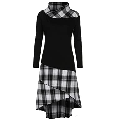 c63c94c475 Amazon.com  Han Shi Long Sleeve Dress