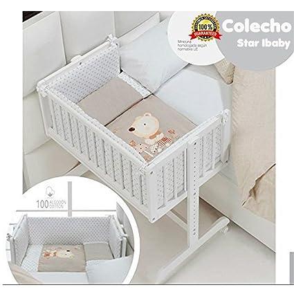 Minicuna de Colecho COMPLETA: Estructura + Colchón + Edredón desmontable (relleno y colcha)
