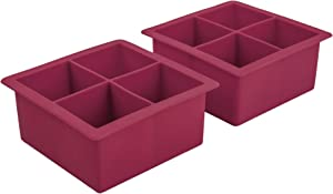 Tovolo Elements XL, Set of 2 Silicone Trays Extra-Large Ice Cubes for Whiskey, Bourbon, Cocktails & More, BPA-Free & Dishwasher-Safe, Sangria