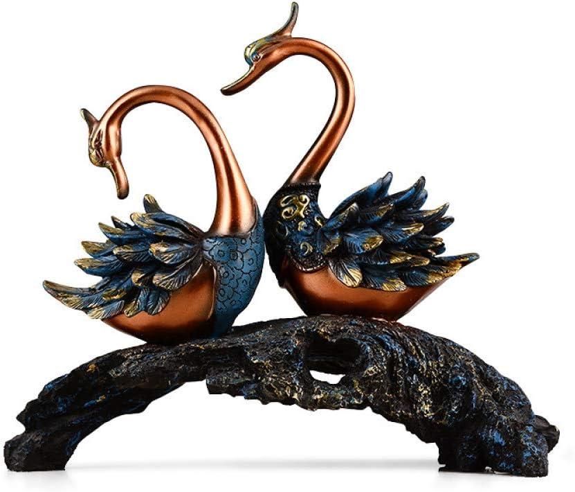 GHKUFH Escultura Simulación de Cisne Exquisita Escultura Animal para la decoración del hogar Decoración navideña Adorno Regalos empresariales Artesanías Hechas a Mano