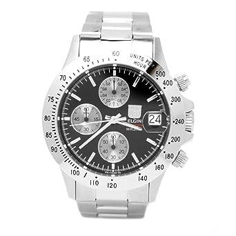 7cf21acb2e [エルジン]ELGIN 腕時計 クロノグラフ 日本製ムーブメント 200M防水 ブラック FK1184S-B