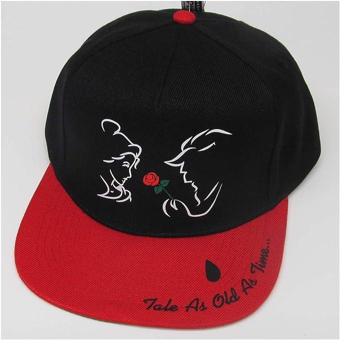 Gorras de béisbol de la Bella y la Bestia de Disney Negro/Rojo ...