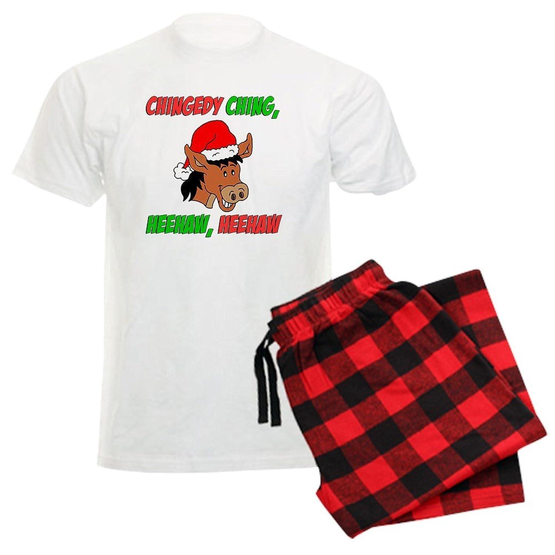 Amazon.com: CafePress-Italian Christmas Donkey Men\'s Light Pajamas ...