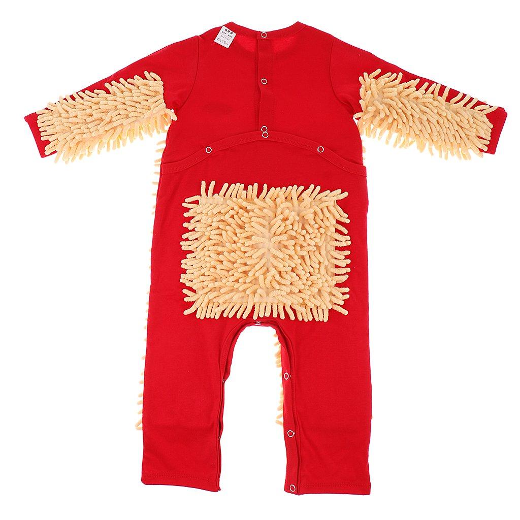 MagiDeal Grenouill/ère Serpill/ère Body pyjama Serpill/ère pour B/éb/é Nouveau-n/é Rouge 6-12 Mois