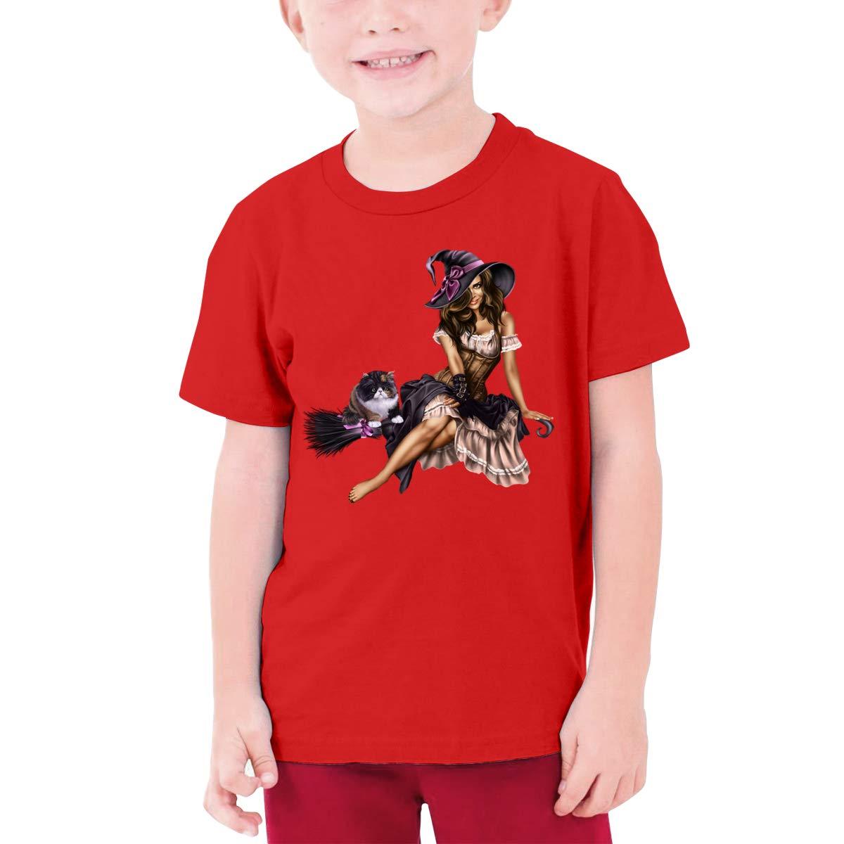 CiXianFuLu Happy Halloween Teenagers Classic Tshirt Unisex Black