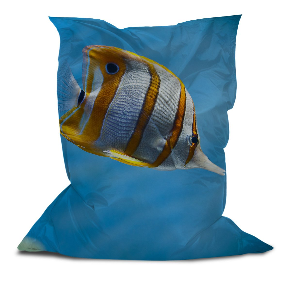 Branded Bean Bag with Printed Fish (5' x 4.4')