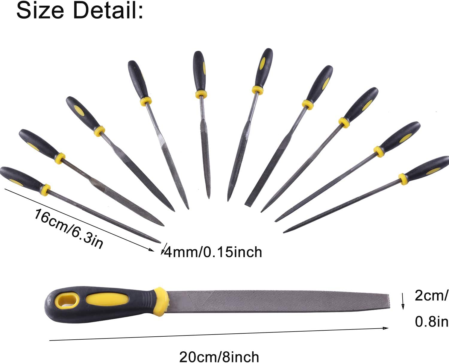 Golden^Li Alloy Steel Hand Metal File /& Rasp Tools for Wood//Soft Metal//Plastic and Hobby Projects 11pcs Needle File Set