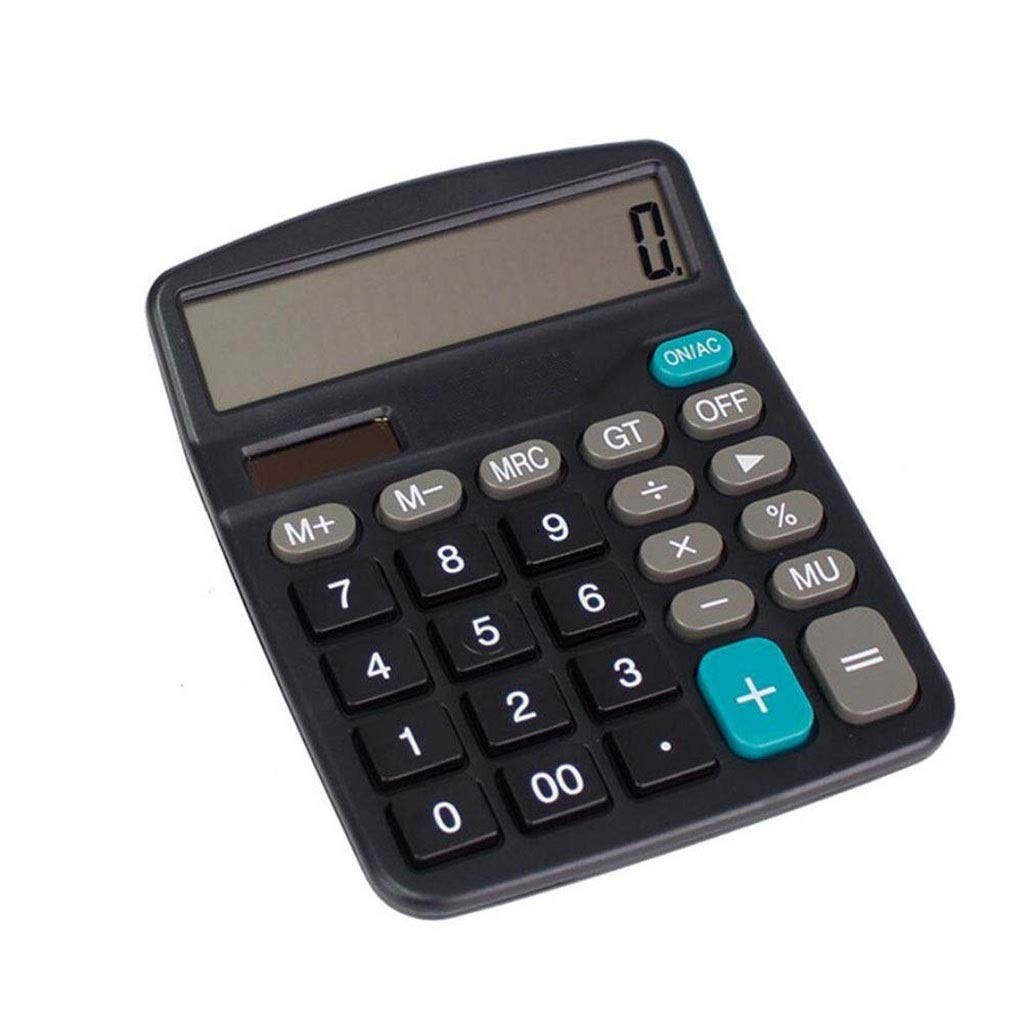Calculator Office Finance 12-bit Large Screen Display Plastic Button Dual Power Office Calculator Vineyard (Color : 2A) by Vineyard
