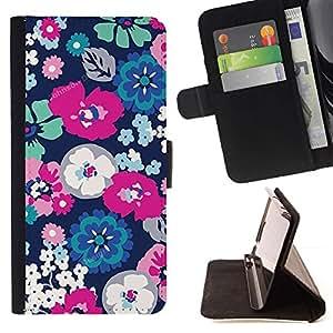 Momo Phone Case / Flip Funda de Cuero Case Cover - Blanco Primavera floral pétalo de la flor - LG G4c Curve H522Y (G4 MINI), NOT FOR LG G4