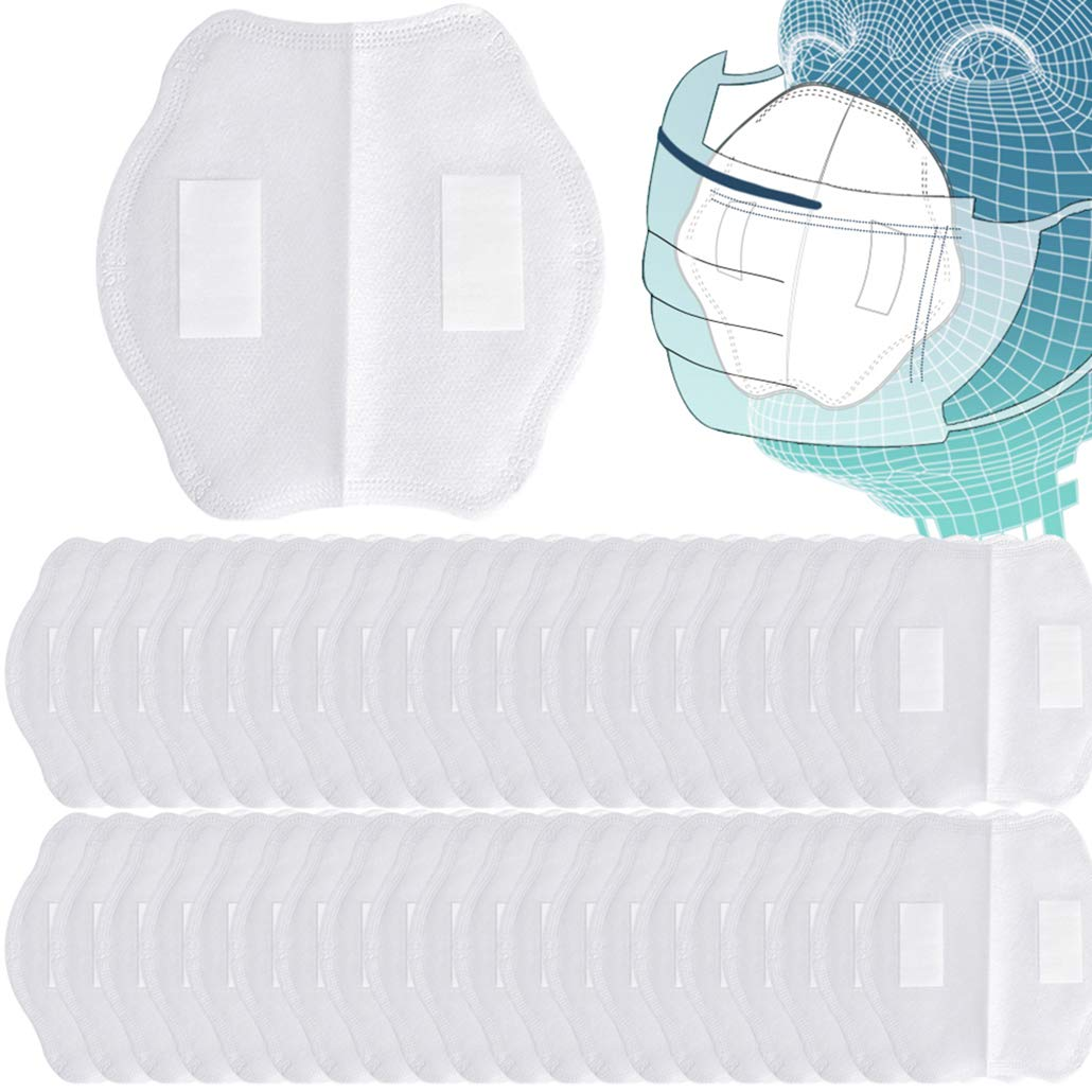 Jugaogao 50pcs Breathing Filters for Anti Dust Unisex Mouth Cover Activated Carbon Protection Filter with Stickers