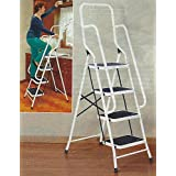 62.5 Four Step Steel Safety Ladder With Handrails by Safety Ladders