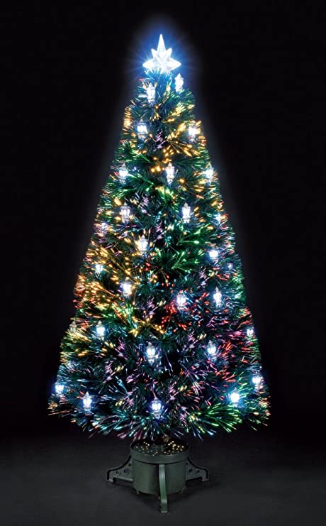 6ft/180cm Colour Changing Lantern Fibre Optic Christmas Tree - 6ft/180cm Colour Changing Lantern Fibre Optic Christmas Tree: Amazon