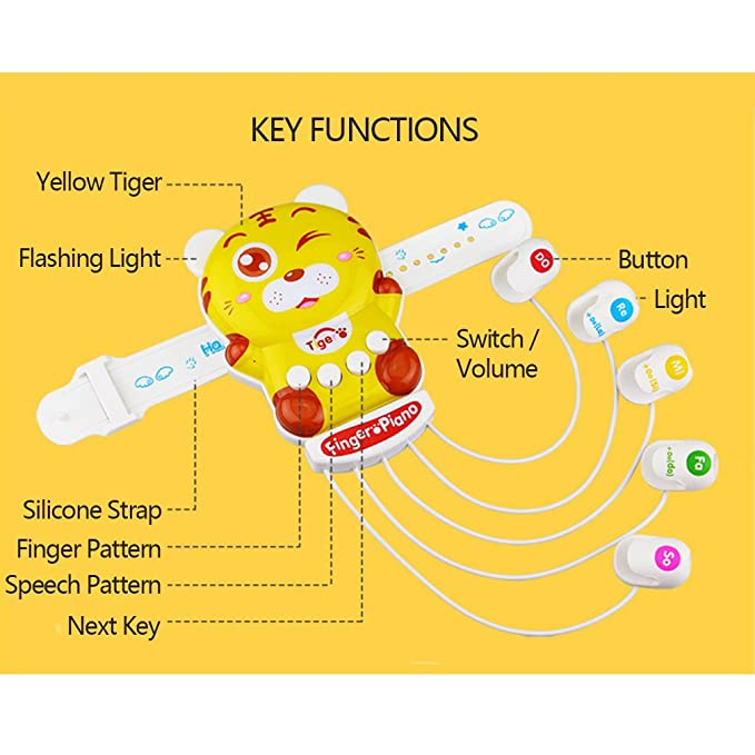 Amazon.com: Multifunctional Finger Piano Music Toy Animal Design ...