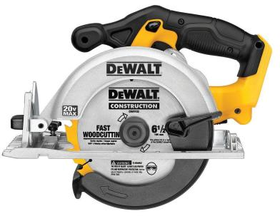 DEWALT 20-Volt Max Lithium-Ion 6-1/2 in. Cordless Circular Saw (Tool-Only)-DCS391B - The Home Depot