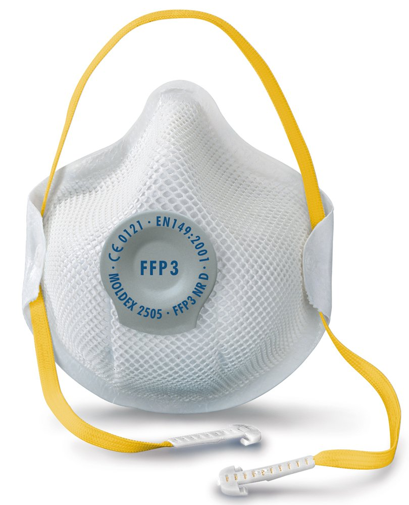 Moldex - New Generation General Purpose Maske FFP3 Nr. D Ventex Valve - MOL2505