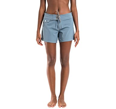 688f2b6b0fb Birdwell Women's Stretch Board Shorts - Long Length (0, Light Blue)