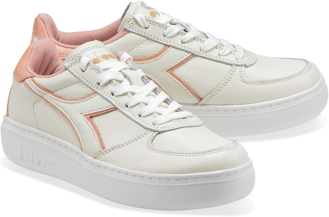 Diadora B.Elite L Wide Wn gymschoenen voor dames C7735 White Dusty Pink
