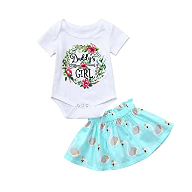 104f8f1850da Amazon.com  WARMSHOP Summer Clothes Set Girls