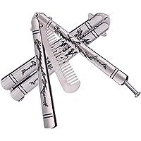 XBC Tech Dragon Totem - Navaja de Entrenamiento (Acero Inoxidable), diseño de Mariposa