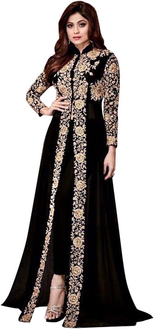 Amazon Com Indian Bollywood Pakistani Long Pant Style Salwar Kameez Suit Bridal Wedding Ceremony Punjabi Muslim Eid Ethnic 651 Sb