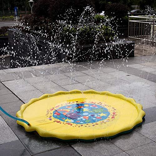 Vandora 67in-Diameter Sprinkle and Splash Play Mat for Kids Summer Gifts
