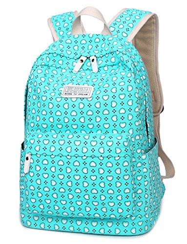 genbagbar-casual-style-backpack-cute-school-bag-daypack-travel-handbag-for-girls-blue