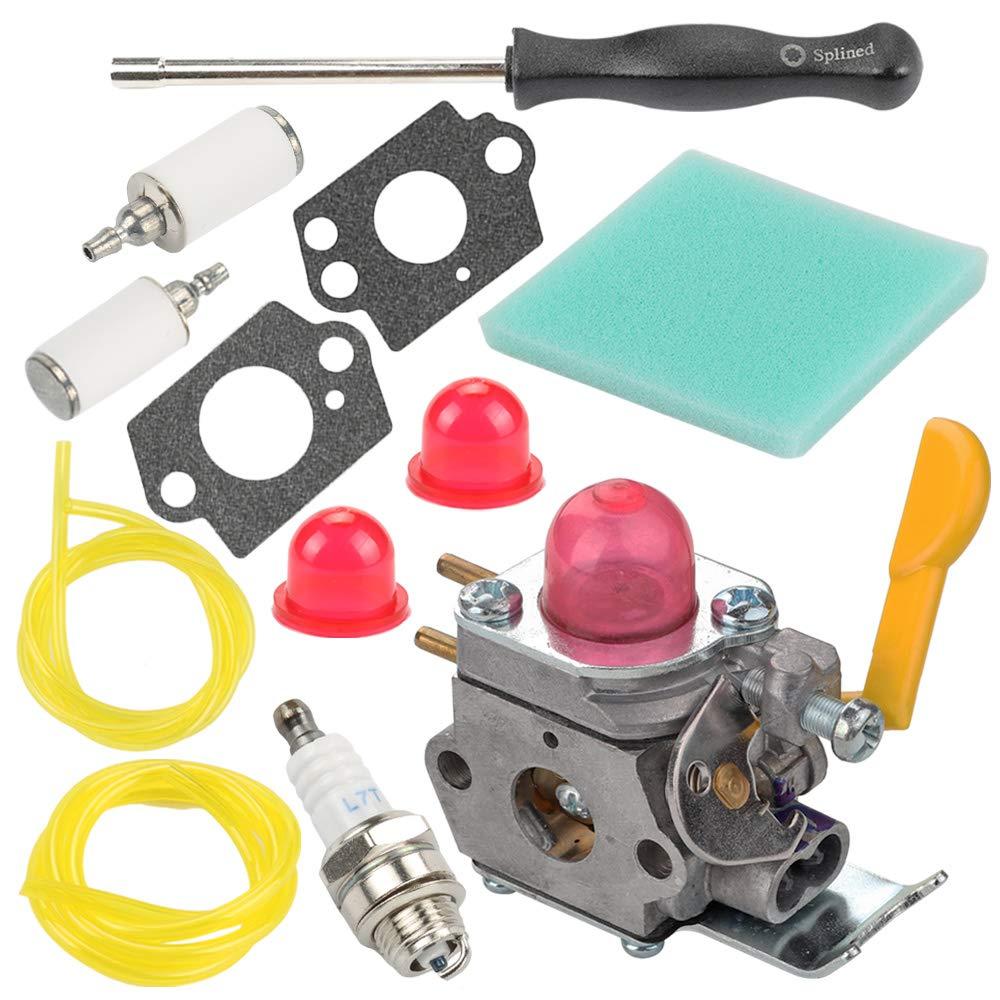 Mckin SST25 Featherlite Carburetor fits C1U-W18 Weedeater Weed Eater FL20 FL20C FL25 FL26 SST25C SST25CE FX26 FX26S FX26SC MX550 MX557 XT260 XT700 TE475 Trimmer with Air Filter Tune Up Kit
