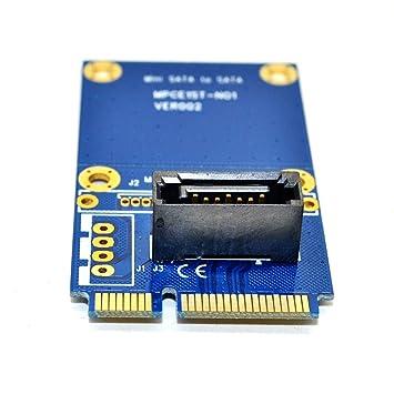 MingChuan mSATA a SATA convertidor Tarjeta Mini SATA a 7 Pin PCI-e ...