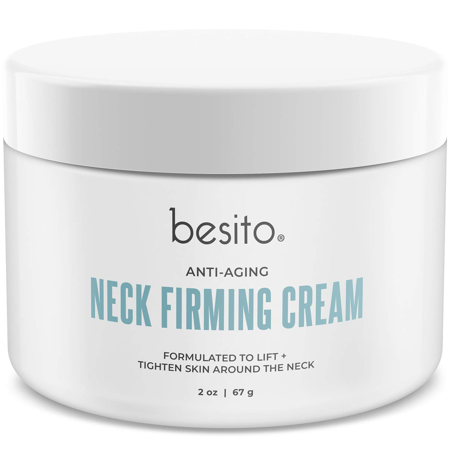 besito Advanced Neck Cream with Peptides, Vitamin E, Shea Butter, and More. Anti Aging Neck Firming Cream and Moisturizer Helps Reduce Wrinkles, Fine Lines and Age Spots. by BESITO