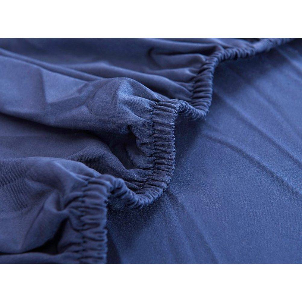 VORCOOL Funda Sillon Funda Sofa 1 Plaza Elastica Antideslizante 140 x 90 cm Azul Marino