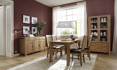 SAM® Sit mesa Grupo okay 5 piezas mesa 140 x 70 cm, madera de roble