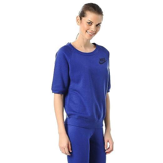 76d9bff48b9e Nike Women s Rally Crew Short Sleeve Sweatshirt 728200 at Amazon ...