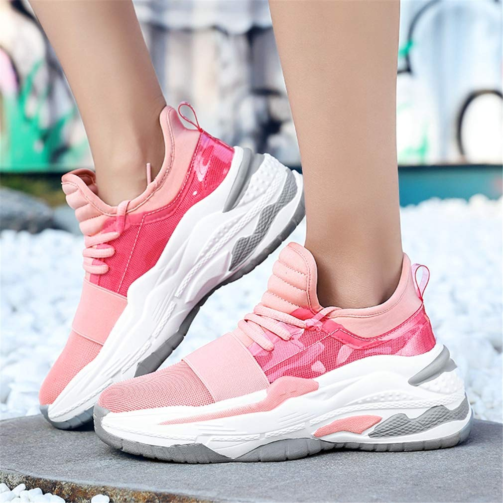 Non-Slip Running Shoes,B,38 YXB Womens Sneakers Low-Top Casual Shoes 2019 New Breathable Mesh Platform Shoes Travel Shoes