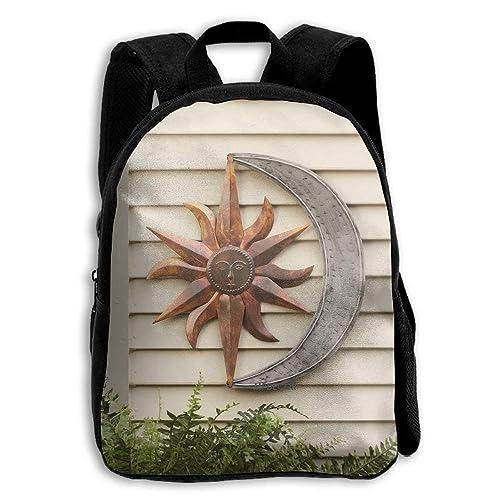 HOJJP Mochila escolar de mochilas escolares para niños, Sun Moon Celestial Wall Art: Amazon.es: Zapatos y complementos