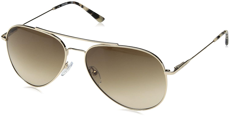 2a45df86a9b2 Calvin Klein Ck18105s Aviator Sunglasses, Gold/Brown, 59 mm: Amazon.ca:  Clothing & Accessories