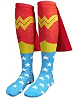 Bioworld Wonder Woman Adult Knee High Cape Sock, One Size