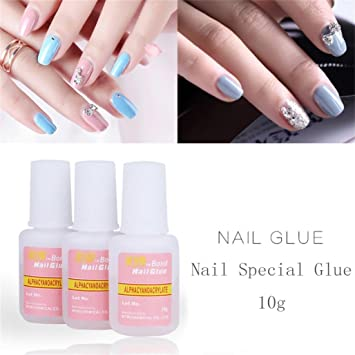 Amazon Exteren 10g Nail Art Glue With Brush On Strong Adhesive