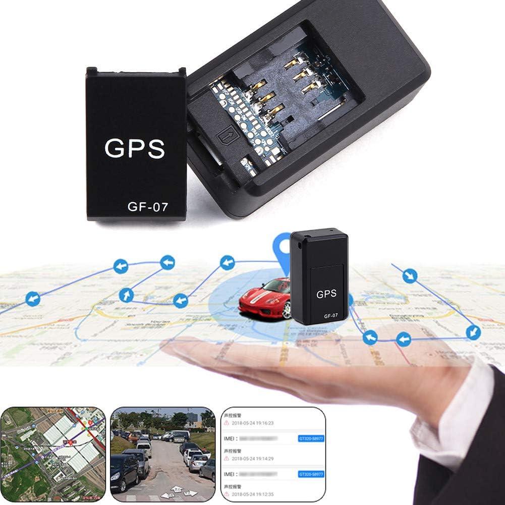 Haodene Mini GPS Tracker, GF07localizador vehículo en Tiempo Real–Localizador gsm/GPRS localizador antirrobo para Coche Moto Bicicleta, niños, Personas Mayores, Animales domésticos, etc
