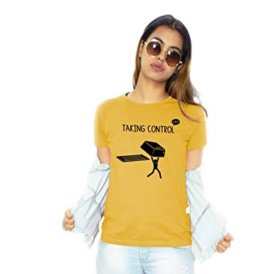 Funny Tshirt Quotes Simple Notydude Women's Cotton TshirtTaking ControlFunny Naughty Trendy