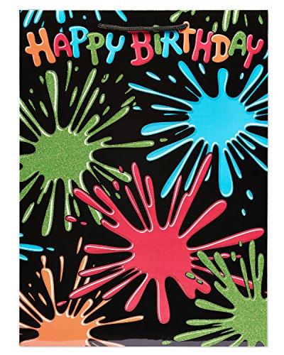 American Greetings Happy Birthday Splat Gift Bag