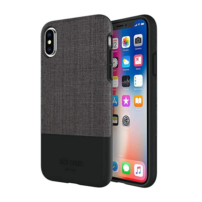 promo code c99b4 52a20 Amazon.com: Jack Spade Color-Block Case for iPhone X (Tech Oxford ...