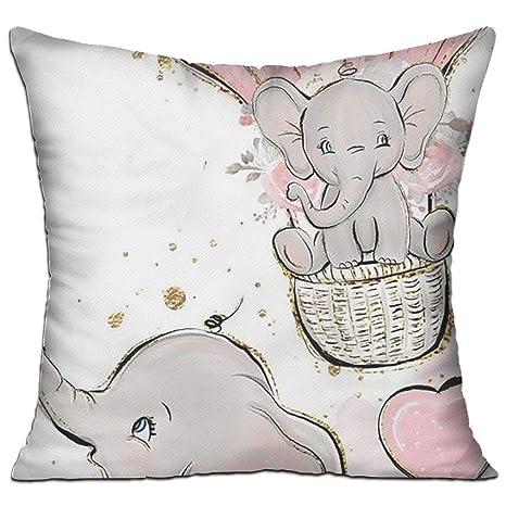 Jxrodekz El Elefante bebé se Monta en una Funda de cojín ...